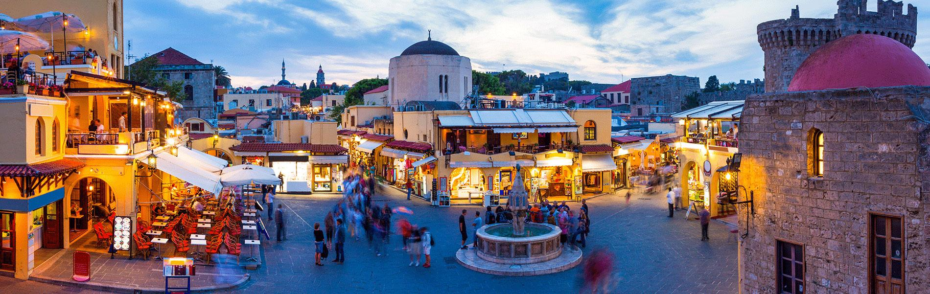 Shore Excursion from Rhodes port: Rhodes City Tour with shopping
